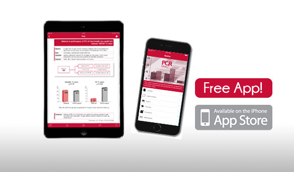 The free PCR trials iOS app and website gather 295 trials extracted from publication over the 2005-2010 period in major academic journals.