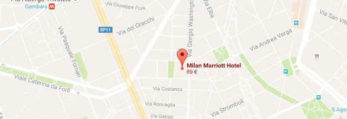 Map Milan Marriott Hotel