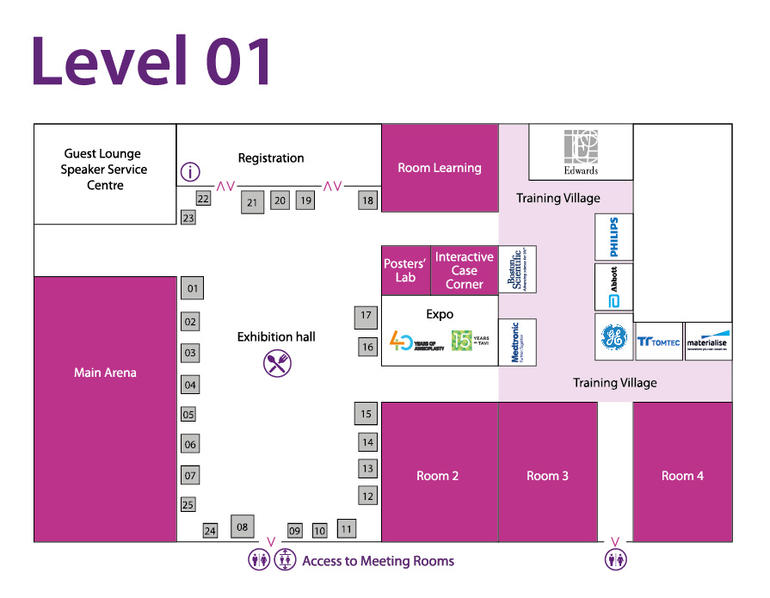 Plan Exhibition Level 1