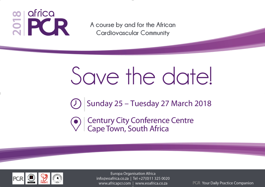 Slide Save the Date for AfricaPCR 2018