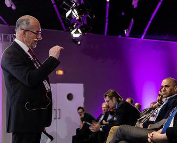 EuroPCR 2018 audience listening to board member