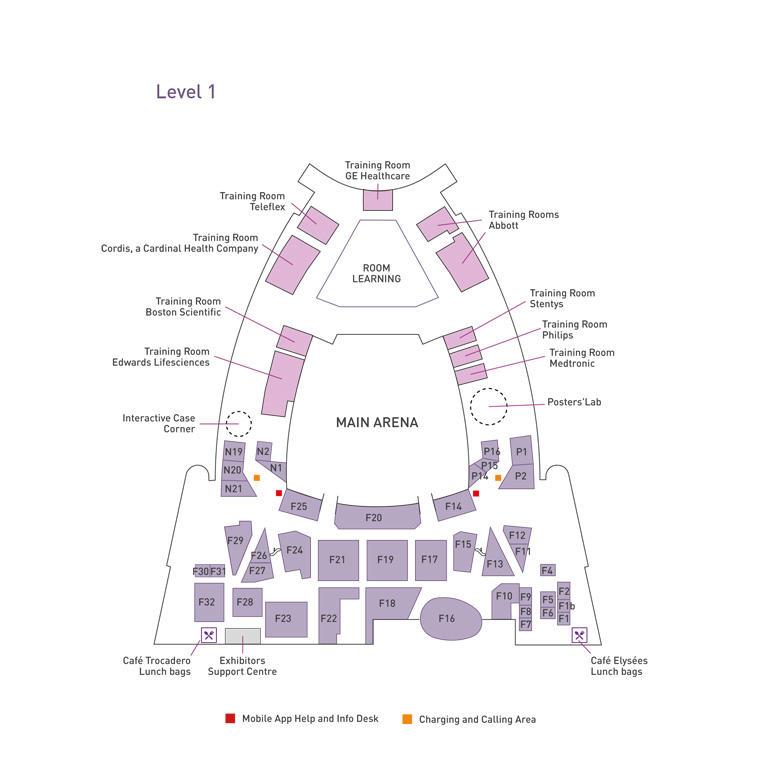 EuroPCR 2018: Exhibitor Plan Level 1