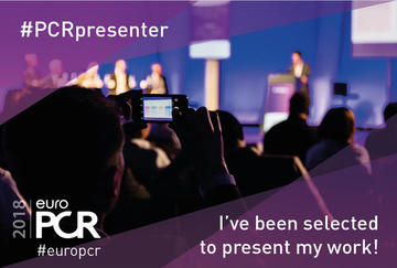 Presenters @EuroPCR 2018: I've been selected to present my work! #PCRpresenter #europcr
