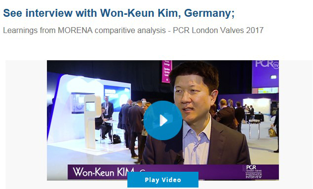 See interview with Won-Keun Kim, Germany - Learnings from MORENA comparitive analysis - PCR London Valves 2017