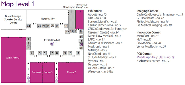 PCR London Valves exhibitors map lvl 1