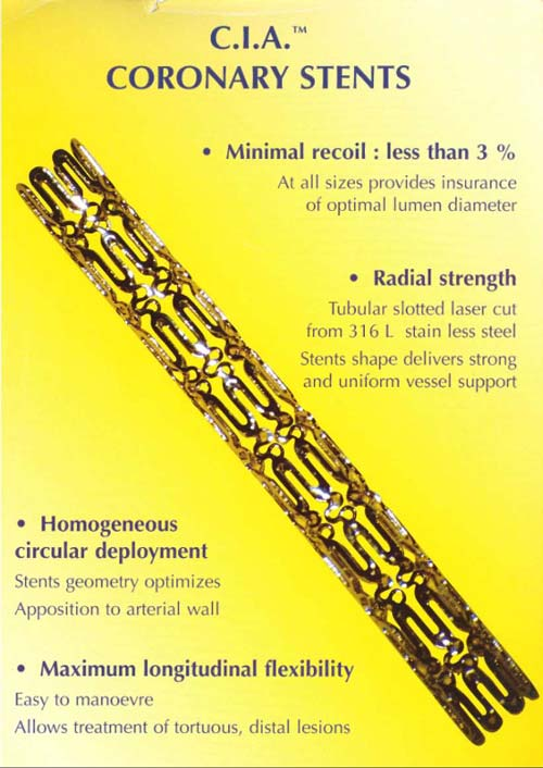 Coronary Stent by C.I.A